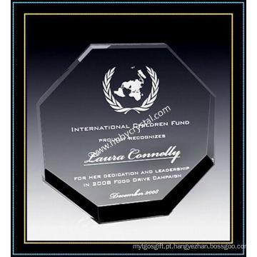 """Placas de Cristal Octagon Award para Reconhecimento 6 """"H (NU-CW691)"""