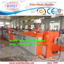 three layers pmma/asa pvc corrugated roof making machine