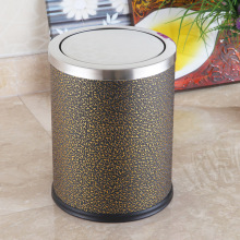 12L Round Stainless Steel Swing Waste Bin (F-12LF)
