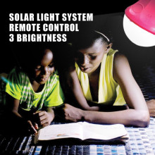 CE recargable LED lámpara de lectura, lámpara de lectura inalámbrica, kits de iluminación solar portátil al aire libre