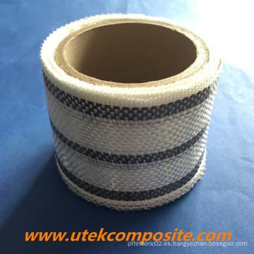 0.27mm Grueso 200G / M2 Carbono híbrido de fibra de vidrio cinta
