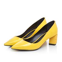 толстый плюс Размер женская обувь каблук широкий