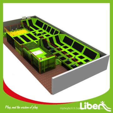 Fabriqué en usine trampoline bon marché 4 pistes pour les ventes avec la conception personnalisée