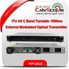 Profissional Fornecedor Itu de alto desempenho Toda a faixa de C Turnable CATV 1550nm Transmissor óptico externo modulado do laser