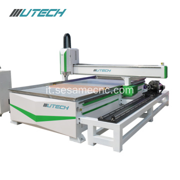 Router cnc a 4 assi per rotella 3d carving