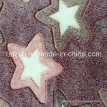 Calafetar Coral Fleece em relevo Star Customized Embossed tecido Fleece