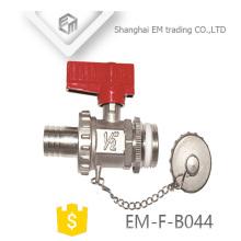 """ЭМ-Ф-B044 1/2"""" никель коллектор латунный шаровой клапан"""