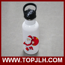 Бутылка воды из нержавеющей стали Спорт столовая с соломой