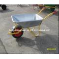 Wb6308 Galvanize Tray Wheelbarrow for Russian Market