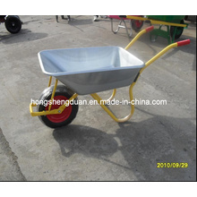 Wb6308 Galvanize Tray Wheelbarrow for Russian Market
