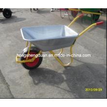 Wb6308 Galvanize Tray carrinho de mão para o mercado russo