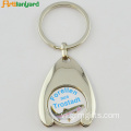 Customized xe đẩy Coin Keychain Với mạ
