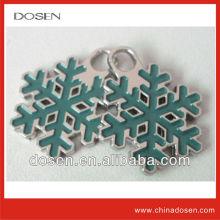 Hot!Metal snowflake shape zipper pull for handbag,Fashion accessory Zipper pull