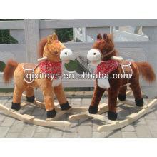 childern animal jinete juguete marrón felpa mecedora