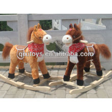 childern animal rider jouet brun cheval à bascule en peluche