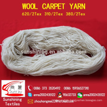 100% wool yarn for carpet 380tex/2