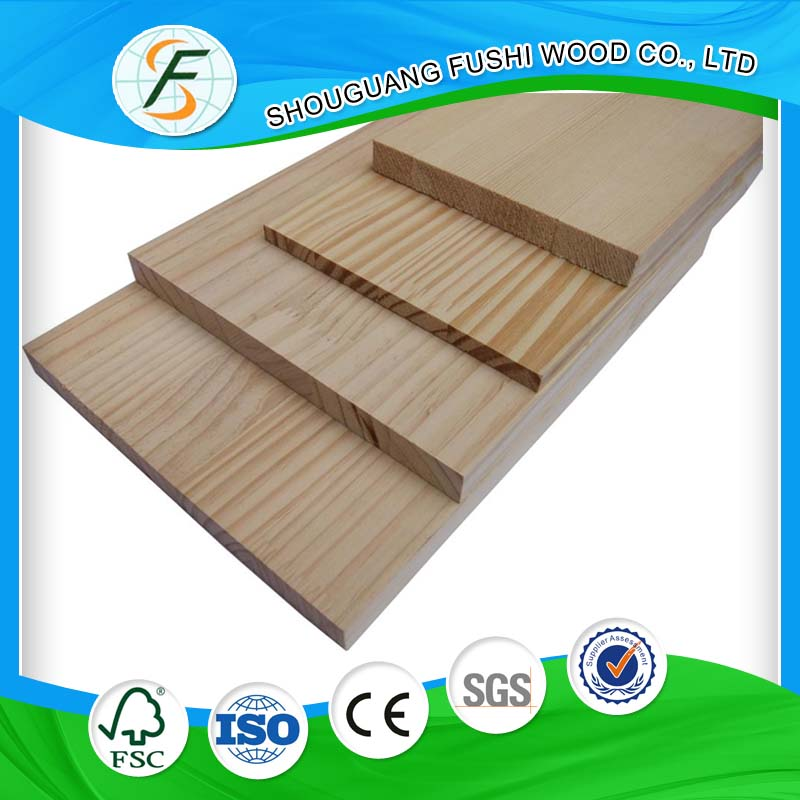 China decoration material type pine glued laminated timber