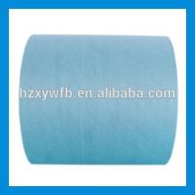Traverser le tissu non-tissé de polyester de Spunlace de recouvrement / parallèle
