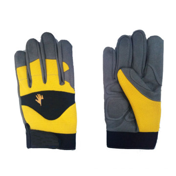 Excelente Grip Customized Leather Synthetic Leather Anti-impact Gloves para el trabajo