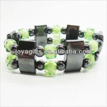 01B5003-2 / nuevos productos para 2013 / pulsera hematita spacer pulsera / hematita brazalete / hematita magnética brazaletes de salud