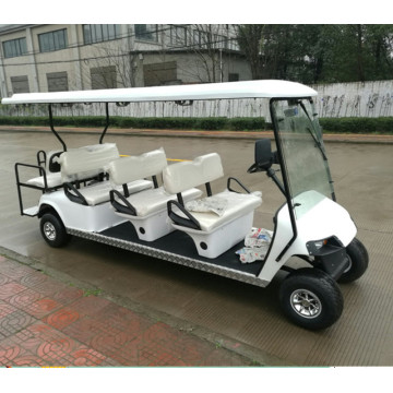 Levering van 6 plus 2 street golf cart met 8 personen