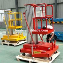 Levantador HOME para una sola persona para la construcción plataforma de elevación hidráulica de aleación de aluminio
