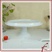 China Factory White Ceramic Porcelain Cake Plate Dinnerware