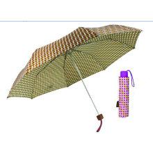 Paraguas de aluminio manual colorido DOT 3 veces (YS-3FM21083939R)