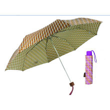 Colorful DOT 3 Fold Manual Aluminum Umbrella (YS-3FM21083939R)