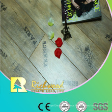 8.3mm AC3 Pearl Walnut V-Grooved Waxed Edged Laminate Flooring