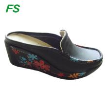 woman leather platform pumps shoes