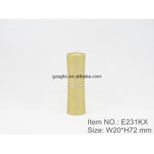Especial y elegante aluminio cilíndrico lápiz labial tubo contenedor E231KX, Copa size12.1/12.7,Custom color