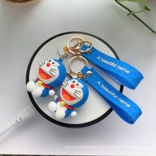 Benutzerdefinierte Doraemon Gummi Schlüsselbund