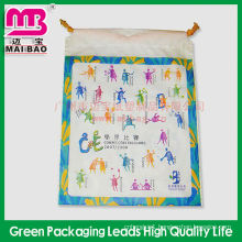 two-way cotton string plastic grocery bag