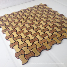 Lantern shaped aluminium mosaic tile