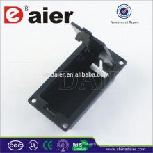 Daier 9V Batterie schwarz Gehäuse mit Deckel 9V Batteriehalter