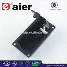 Daier 9v battery black case with cover 9v battery holder
