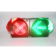 cruz roja señal verde LED semáforo de advertencia