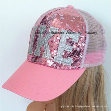 Sequins Stickerei Sport Cap Baseball Cap Mesh Hat
