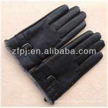 Nueva piel de cabra de llegada (textura de ciervos) guantes de conducción de cuero caliente hombre