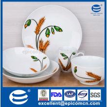 Обеденный комплект круглой формы, столовые приборы, посуда, керамические и фарфоровые изделия