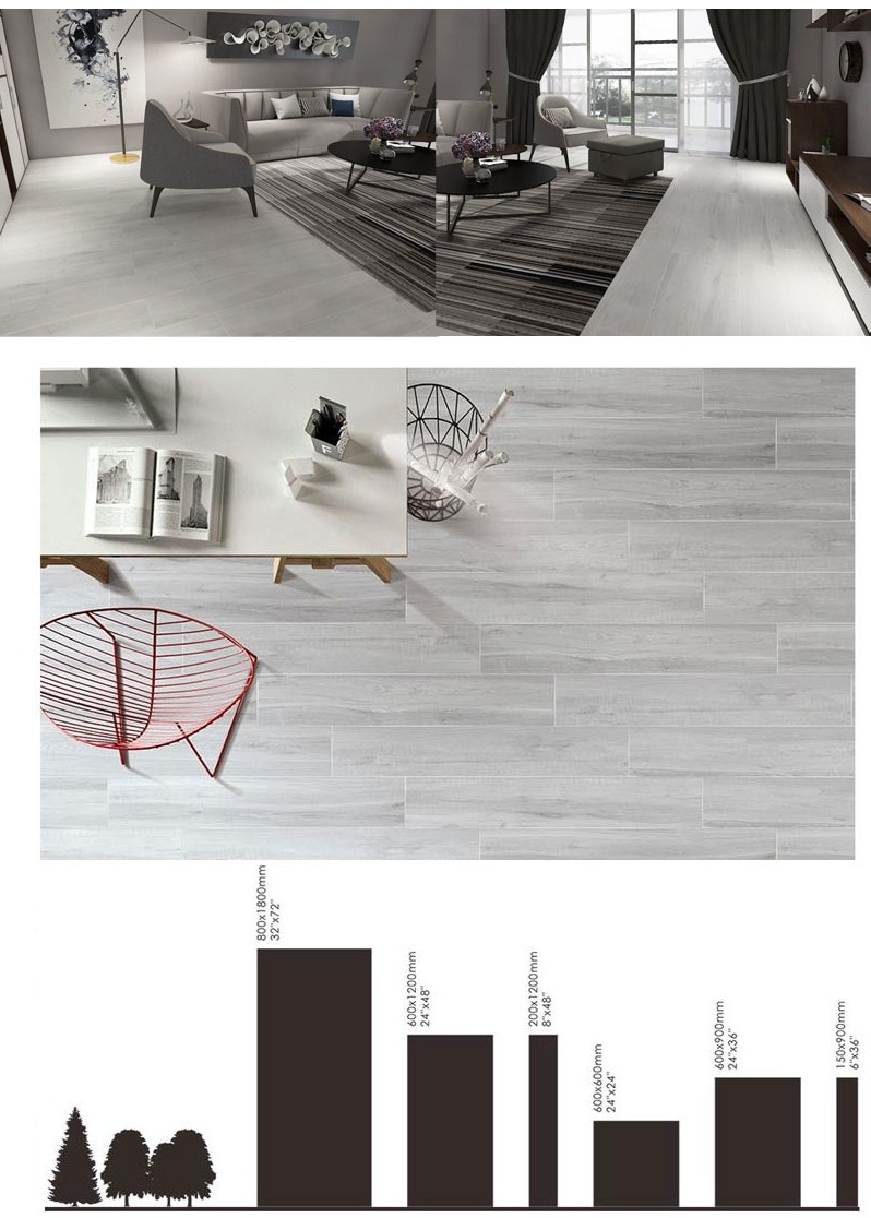 Polished Wood Effect Tiles