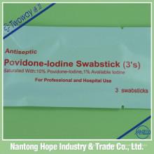 Povidona Iodo Swabstick 3 peças por embalagem