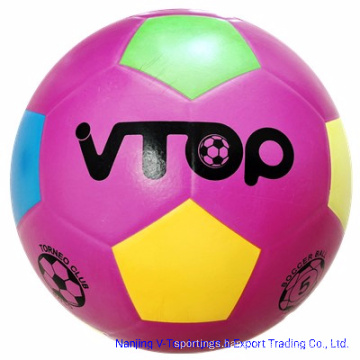 Purple Color Smooth Surface Rubber Football Promotion Gift