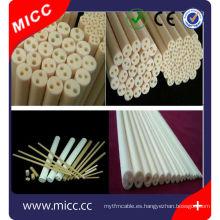 protección por termopar porosa, tubos de cerámica de alúmina