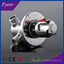 Válvula de mezcla termostática de cobre amarillo de alta calidad de Fyeer (QH0211D)