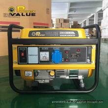 Grupo de gerador barato da eletricidade do valor de poder 1kv, gerador da gasolina de alta qualidade para a venda