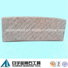 Diamantes alinean segmento del Arix diamante para corte de piedra
