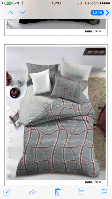 cvc printed bedding set