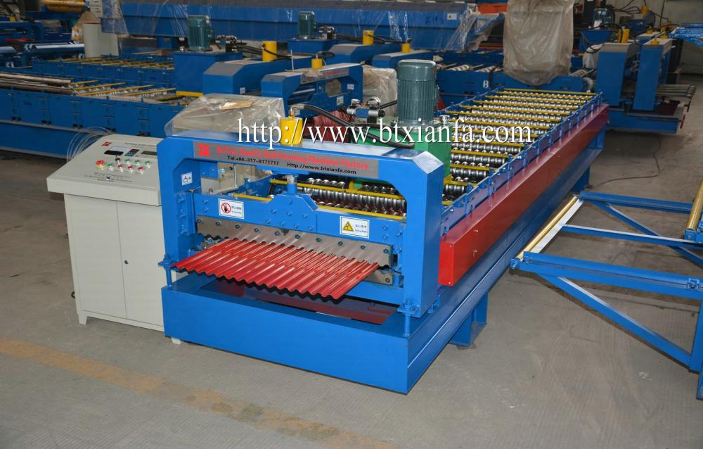 Steel Sheet Roofing Corrugated Roll Forming Machine